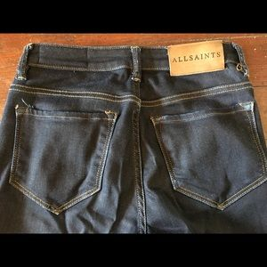 All Saints Stilt dark denim. Cropped. Size 26.